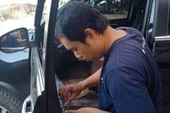 Pemasangan Kaca Mobil Samping Depan Toyota Fortuner