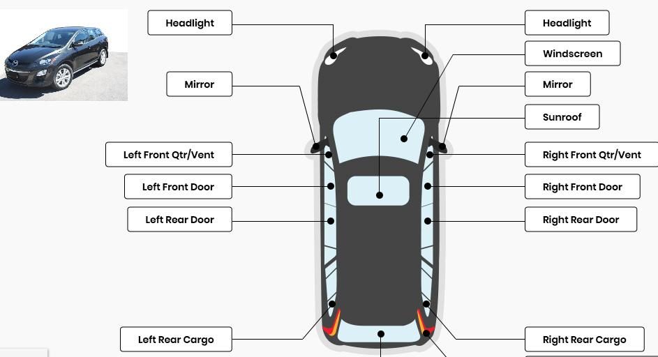 Kaca Mobi Mazda CX-7